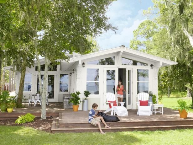 View the stunning before and after photos of this remodeled water-front home in HGTV Magazine