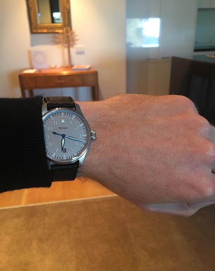 Stowa Flieger Ikarus blued hands 7.25inch wrist