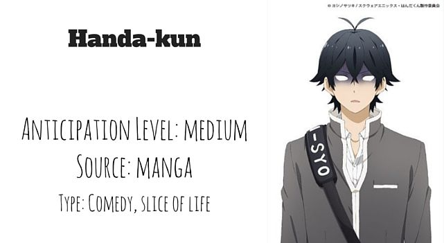handa-kun, upcoming anime, upcoming summer anime, upcoming anime 2016