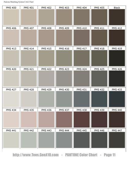 color chart pantone