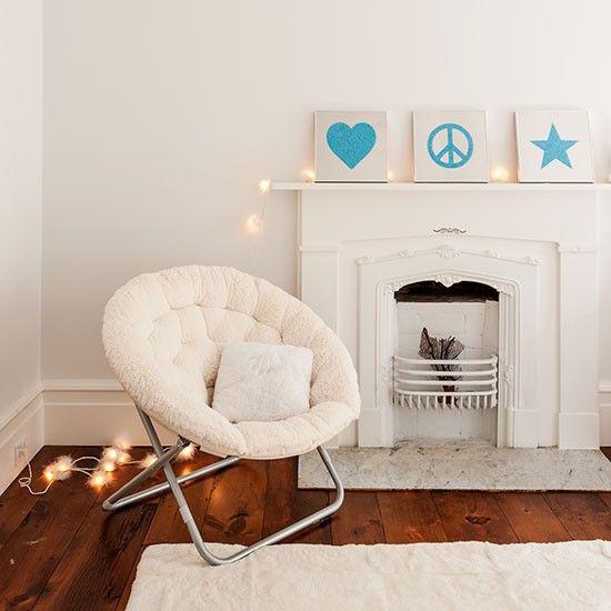 Cosy white bedroom nook with bright blue artwork | Bedroom decorating | Livingetc | Housetohome.co.uk