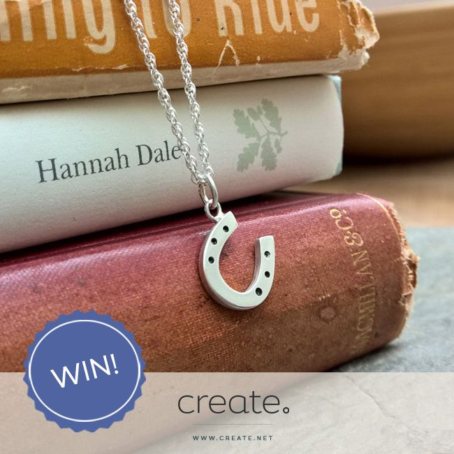 Win this beautiful handmade silver horseshoe necklace with the Create #FreebieFriday! Enter over on the Create Facebook page. Facebook.com/create