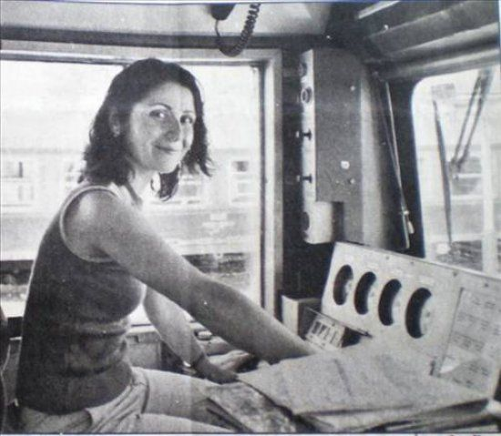 İlk kadın makinist: Seher Aytaç