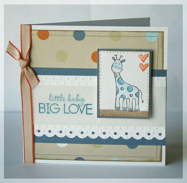 Cute baby scrapbook or card idea