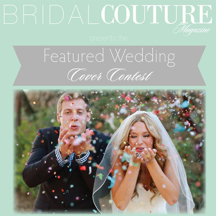 wedding ideas magazine competition featured wedding cover contest bridal couture 28245