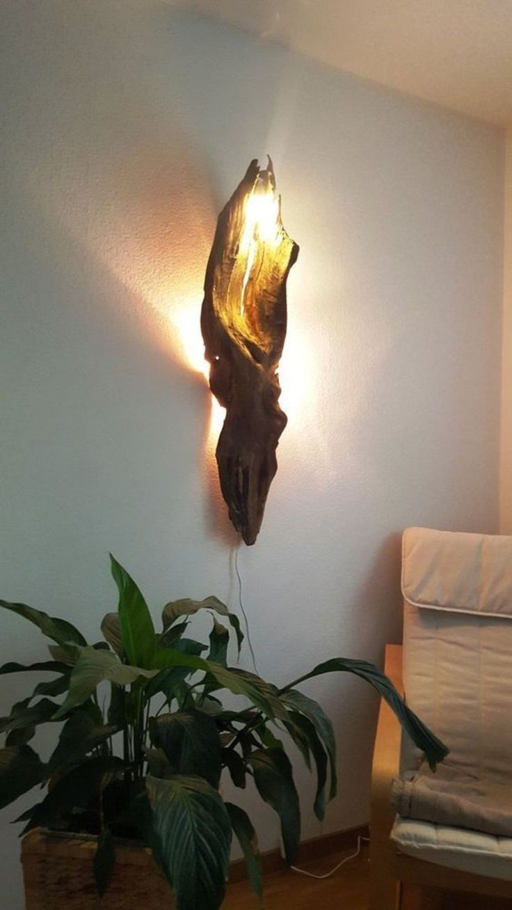 Beautiful Driftwood Lamp Stands Accentuating Natural Sculpture as Dramatic Interior Arts