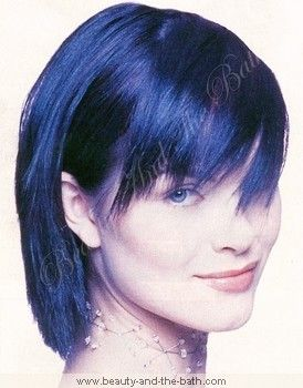 blue black hair | Blue Hair Color, Change Hair Color To Bold Blue