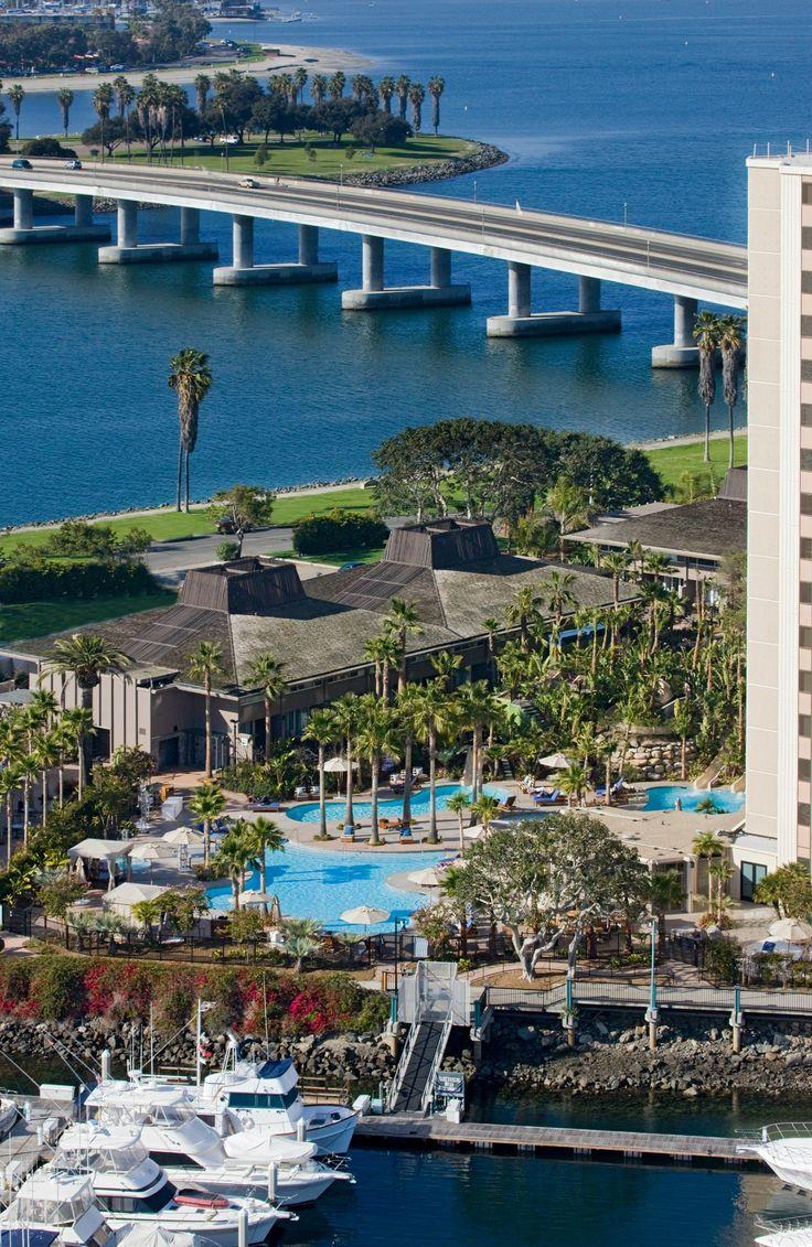 View from Hyatt Regency Mission Bay, a great Mission Beach hotel in San Diego.