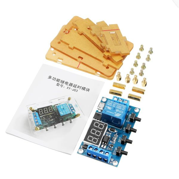 DC 6-30V Or Micro USB 5V 1 Channel Relay Module With Housing Delay