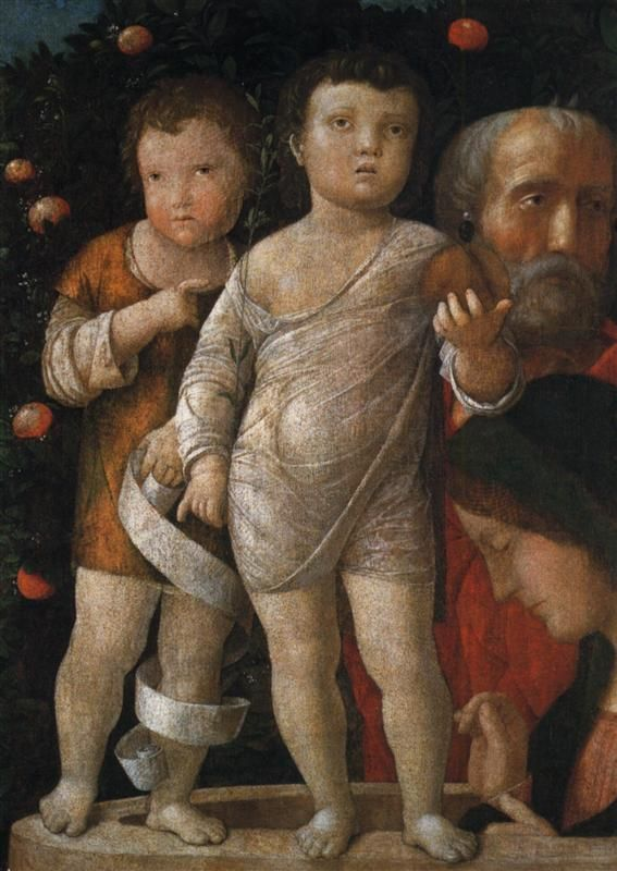 The Holy Family with St John - Andrea Mantegna