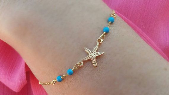 Hey, I found this really awesome Etsy listing at https://www.etsy.com/listing/384463958/turquoise-bracelet-gold-summer-bracelet
