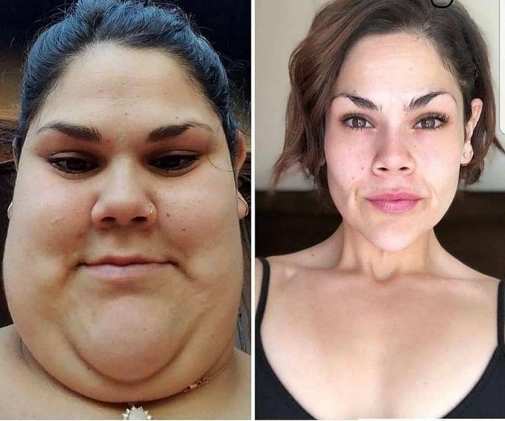 Результат похудения на лицо