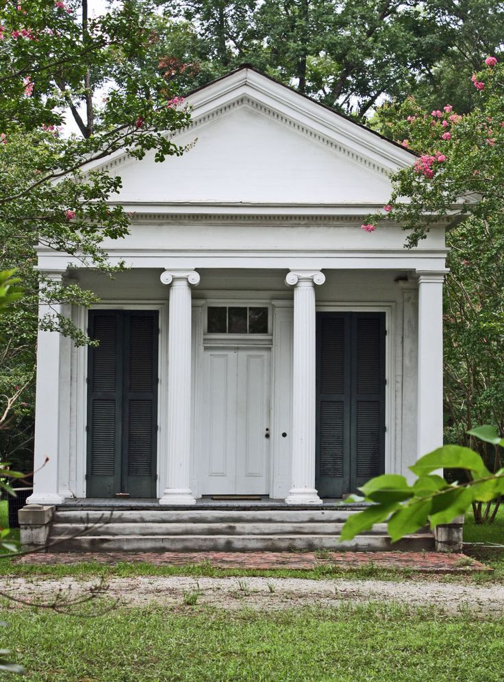 On the grounds of Wohlden House, Canton (1828 and later), Mississippi. Photo…