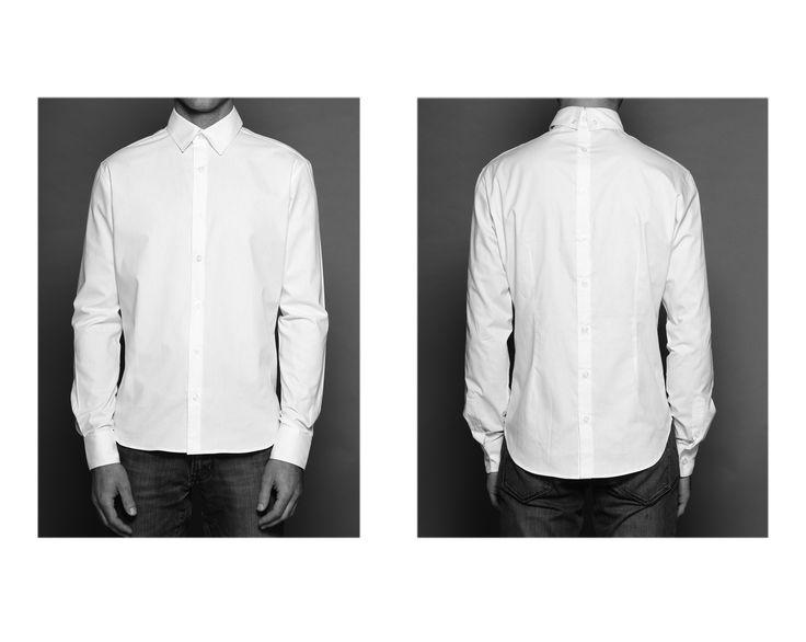 Camisa blanca botones atrás de BoyfriendsShirts en CAÑAMIEL