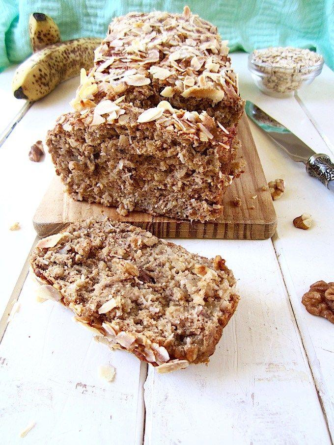 Healthy High Protein Vegan Gf Banana Nut Bread One Bowl