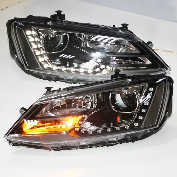 (479.99$)  Know more  - For VW New Jetta Sagitar LED Headlight wIth DRL 2012 year