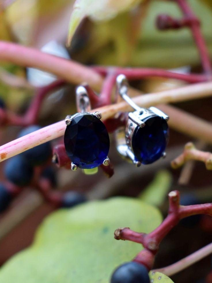 Beautiful blue earrings! #jewelry #jewellery #silver #blue #blueberry #earrings #bizuteria #kolczyki #natura #autumn #obdarujBlaskiem #awegBizuteria