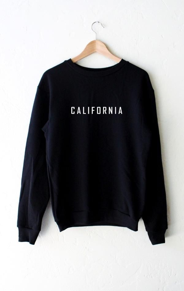 California Oversized Sweater - Black - NYCT Clothing