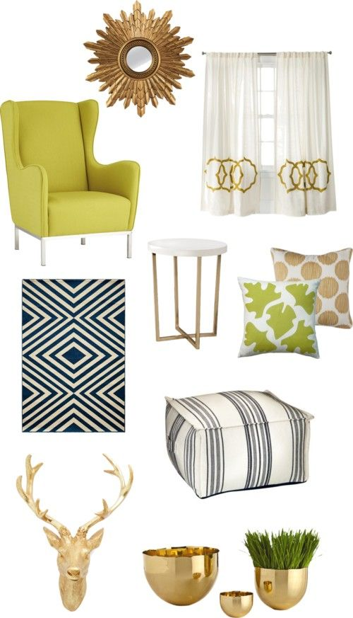 How To Balance A Pop Of Color With Gold Accents Living Room