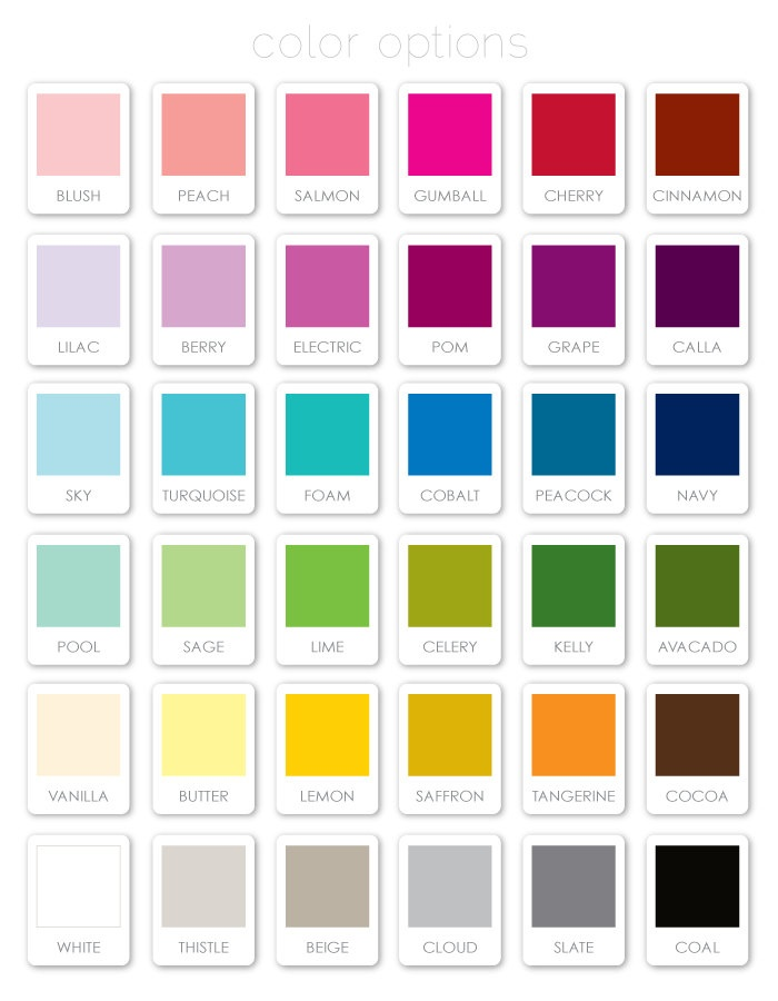81 Best Colour Swatches Images On Pinterest