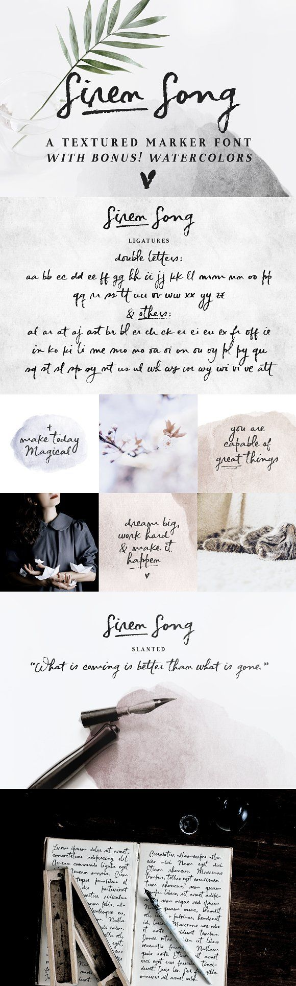 Siren Song | a handwritten font  @creativework247