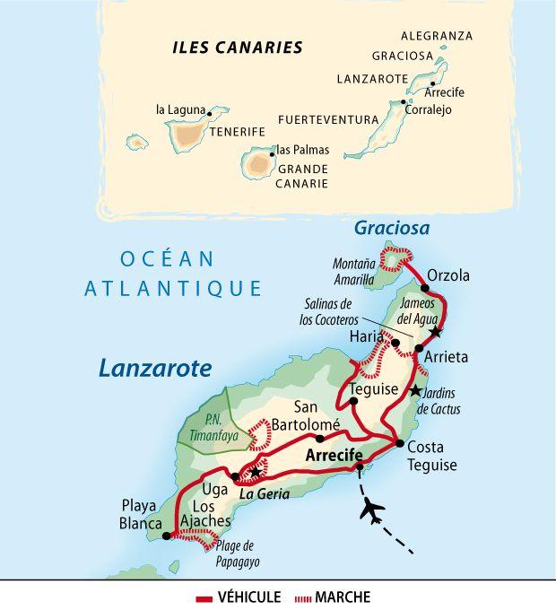 Itinéraire du voyage Lanzarote : l'île artiste