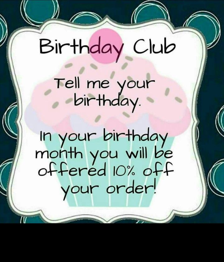 https://www.facebook.com/groups/695805360595701/  Join my Thirty-One Birthday Club by Clicking the Link above & get your Thirty-One Gift just for you during YOUR BIRTHDAY MONTH AT 10% OFF YOUR ENTIRE ORDER!