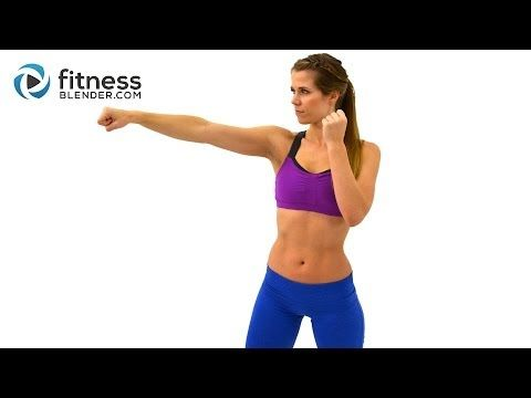 ▶ Cardio Kickboxing Workout to Burn Fat at Home - 25 Minute Kickboxing Cardio Interval Workout - YouTube