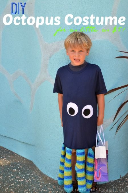 DIY Octopus Costume - a quick and easy costume you can make for as little as $5 with the help of Dollar Tree #client