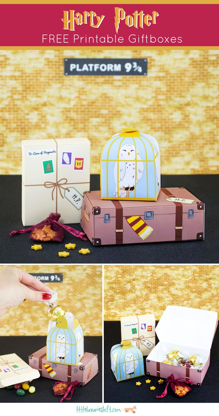 DIY Harry Potter Free Printable BoxesThese are some of the best Harry Potter themed boxes I've seen - and they are free. For the best DIY Harry Potter Crafts go here including an amazing DIY Harry Potter Monopoly Game and DIY Harry Potter Chess...