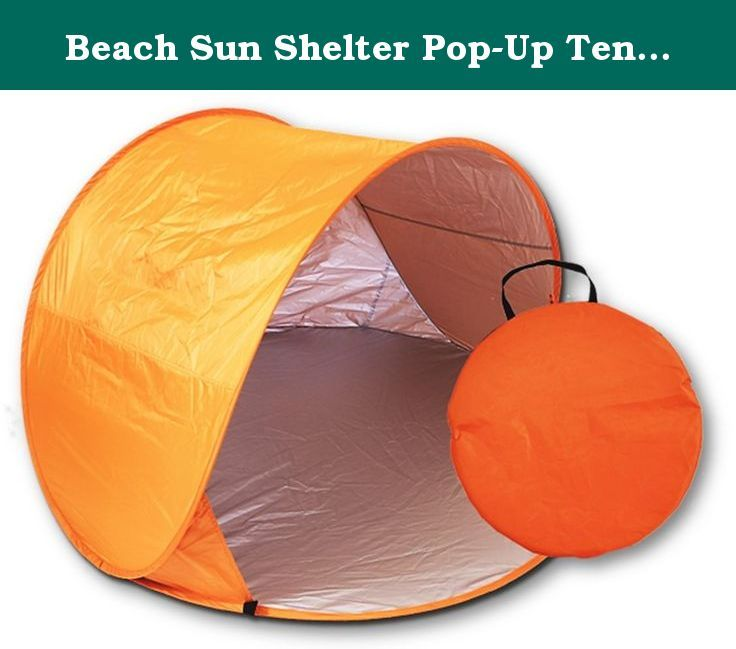 Beach Sun Shelter Pop-Up Tent by Sol Summer Shade. Includes Stakes and Carrying Case. Pop-up sun-shade tent for camping, picnic, beach or just fun by Sol Summer Shade. Keep your pets and your children cool and comfortable in this easy-up, lightweight (less than 1 pound) shelter. Rear mesh window for aeration. Tent stakes to secure to ground, Carry case included. Just pull it from the case and it pops into shape. 58-inches x 58-inches. 36-inches tall. Cozy and cute. This is a genuine…