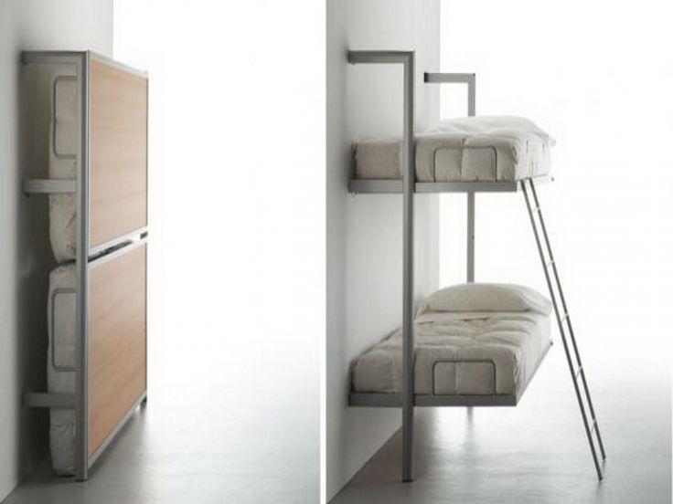 Wall mounted bunk beds stylish wall mounted bunk beds for Wall mounted loft bed plans