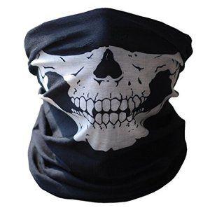 Crâne tubulaire de protection de la poussière Masque Bandana écharpe de polyester pour moto visage cou chaud pour snowboard Ski Moto VTT