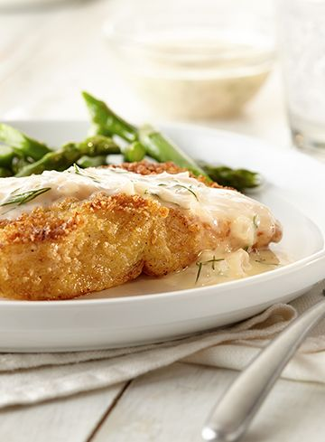 Crispy fish with lemon dill sauce recipe the top for Dill sauce for fish