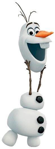 Olaf cabeza arriba.