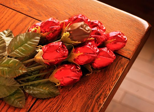 Single Red Foiled Rose
