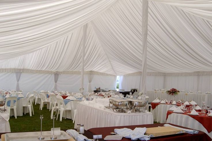 Eden Catering | A wedding reception set up in a gazebo in Dairy Flat