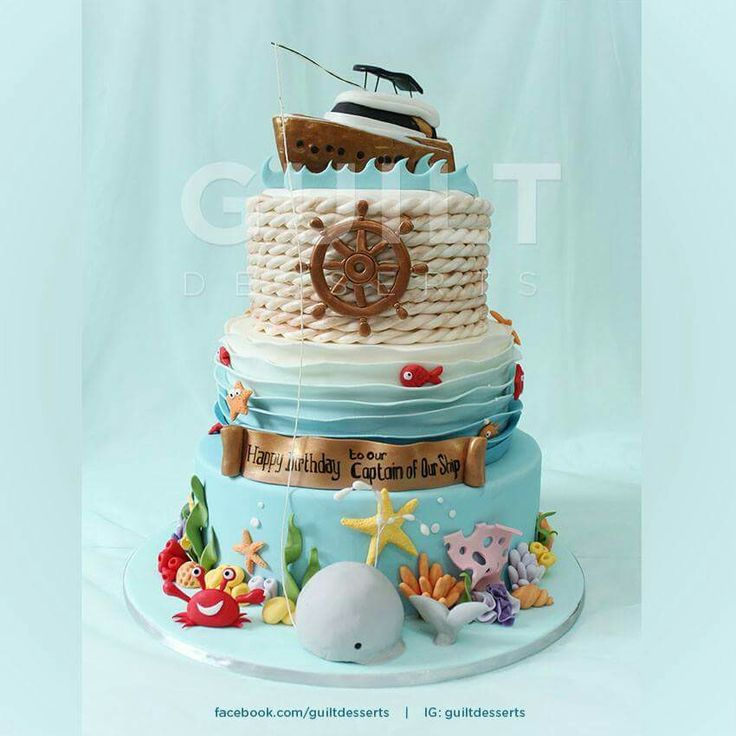 1000+ ideas about Nautical Cake on Pinterest Sailor cake ...