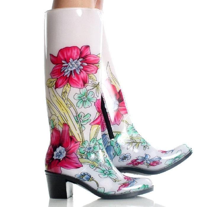 PVC Rider Rain-05 Floral Rain Boot