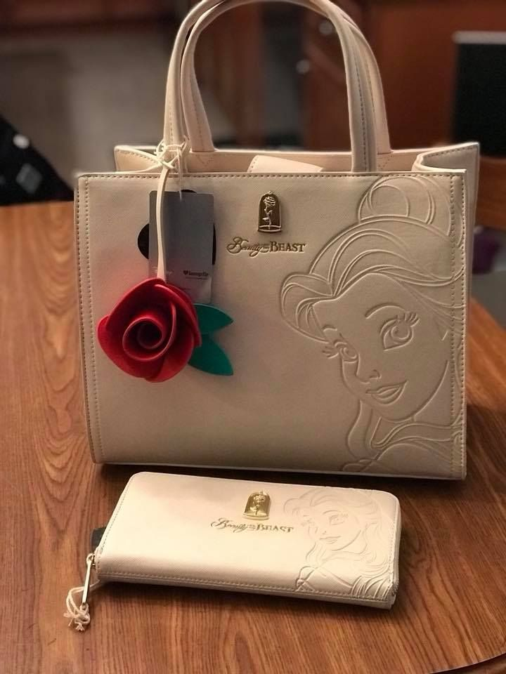 1bae7cbbeb9 Loungefly x Disney Belle Embossed Tote Bag  70.00 sku  WDTB1119 Quick  Overview SAFFIANO FAUX LEATHER SATCHEL WITH DEBOSSED DETAILS.
