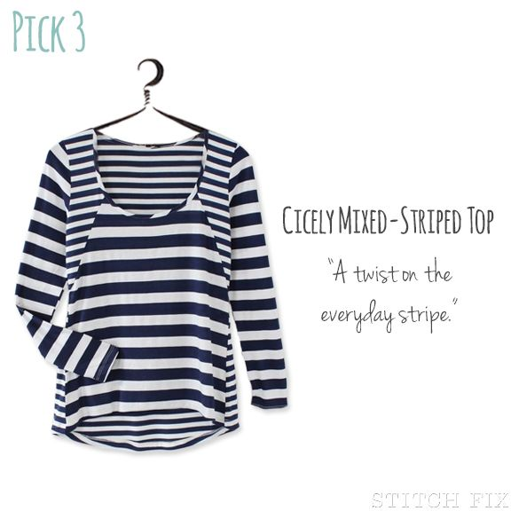 Mixed stripe shirt