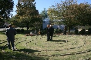 Ned Andrew and I were married in the center of the Glendale Labyrinth on a gorgeous November Saturday.