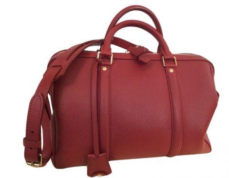 celine replica bags - Sac �� main en cuir LOUIS VUITTON Sofia Coppola Rouge, bordeaux ...