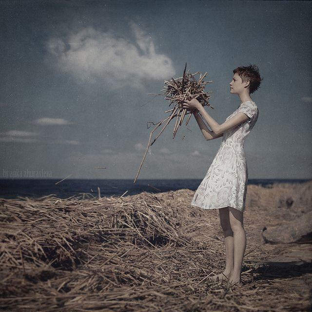 girl and the sky bunny by anka_zhuravleva, via Flickr