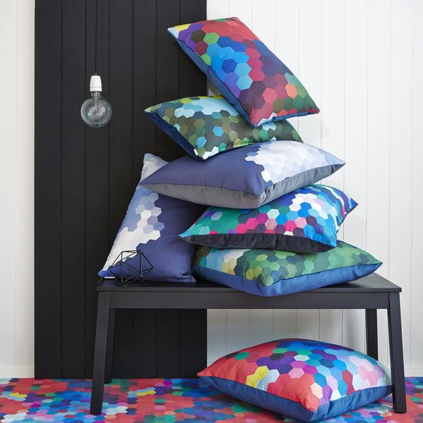 Cumulus Living cushions in beautiful linen and velvet. Designed and made in Melbourne. See these at Grand Designs Melbourne