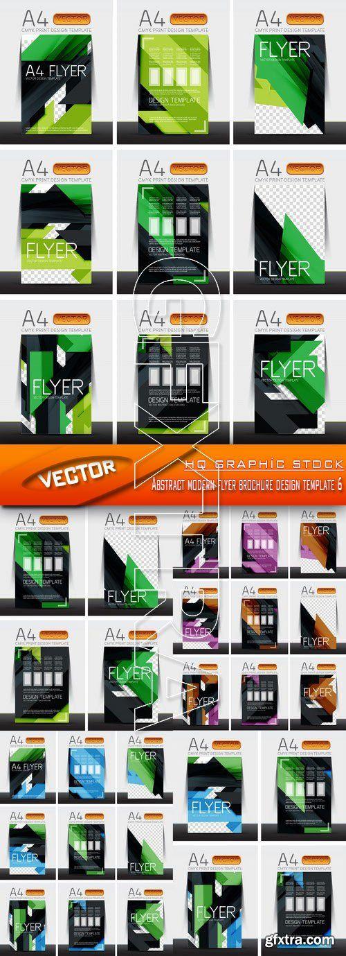 Stock Vector - Abstract modern flyer brochure design template 6