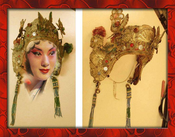 Antique Chinese opera Headdress -Adri