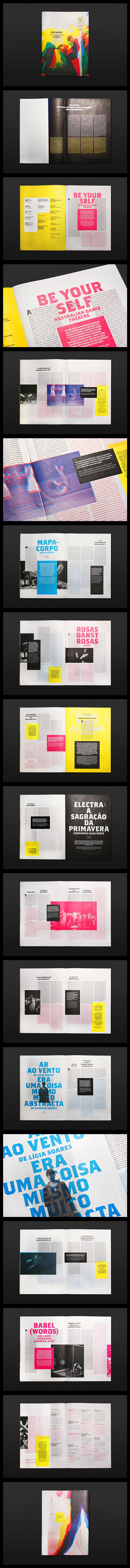 GUIDANCE 2011 Festival Internacional de Dança Contemporânea ~ Poster and Journals designed for the contemporary dance festival hosted at the CCVF Guimarães. (Atelier Martinoña; Porto, Portugal)