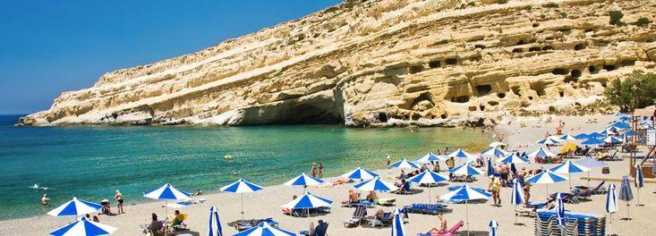 Matala Beach Heraklion Crete Island