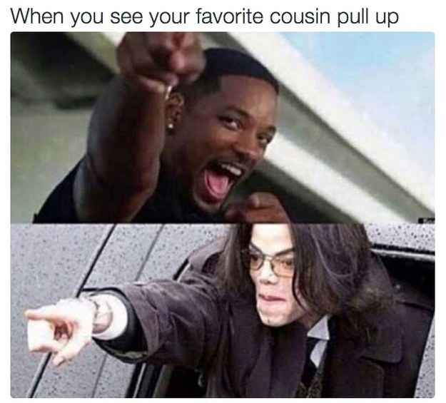 That one cousin | When you see your favorite cousin pull up on thanksgiving | Thanksgiving | Family | Meme | Will Smith | Michael Jackson | Funny | True! | Fam